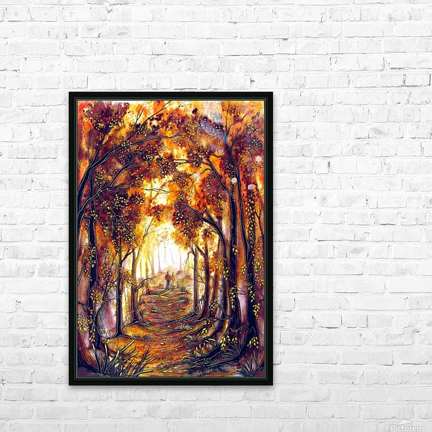 Autumn Memories HD Sublimation Metal print with Decorating Float Frame (BOX)