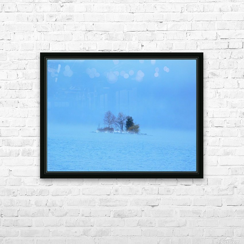 Frosty Morning on Georgian Bay HD Sublimation Metal print with Decorating Float Frame (BOX)