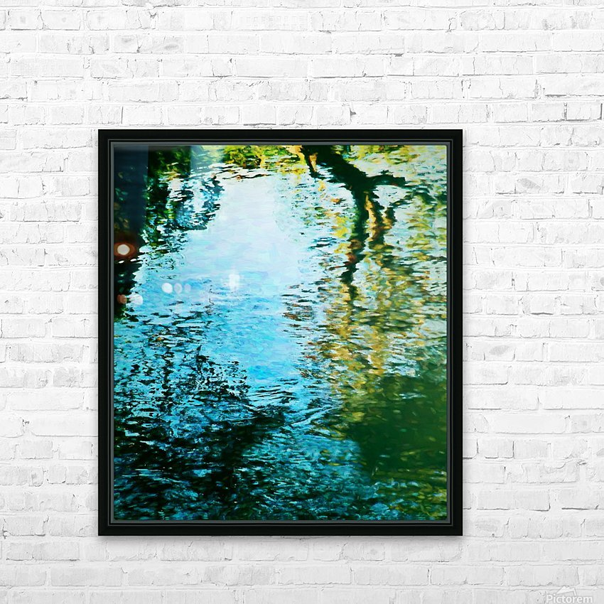Nature reflections HD Sublimation Metal print with Decorating Float Frame (BOX)