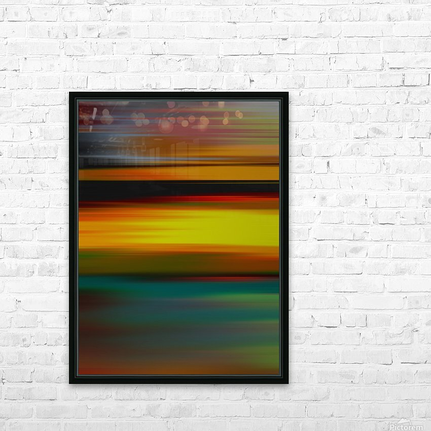 Abstract Landscape 6 HD Sublimation Metal print with Decorating Float Frame (BOX)