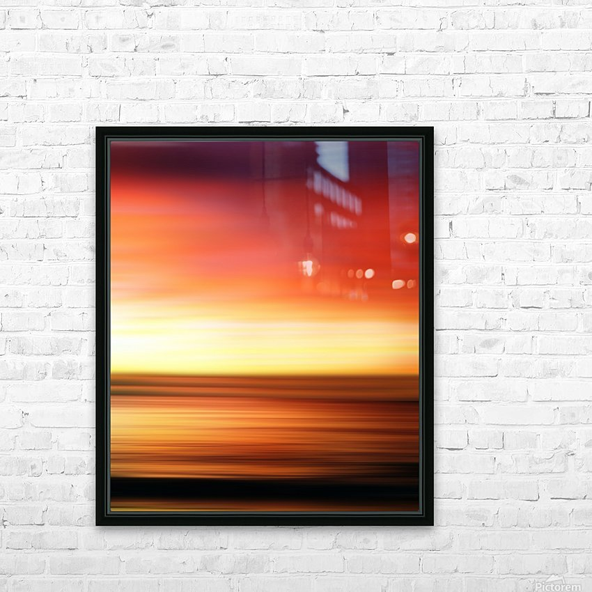 Abstract Landscape 7 HD Sublimation Metal print with Decorating Float Frame (BOX)