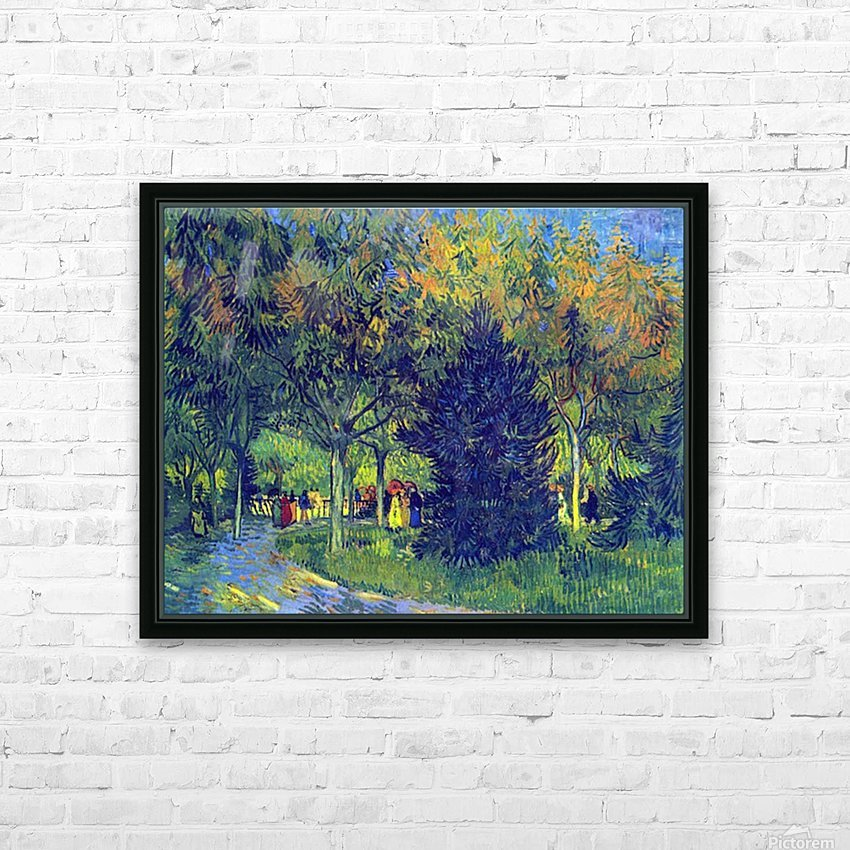Allee in the Park by Van Gogh HD Sublimation Metal print with Decorating Float Frame (BOX)