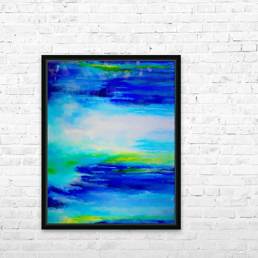 Abstract Landscape 11 HD Sublimation Metal print with Decorating Float Frame (BOX)