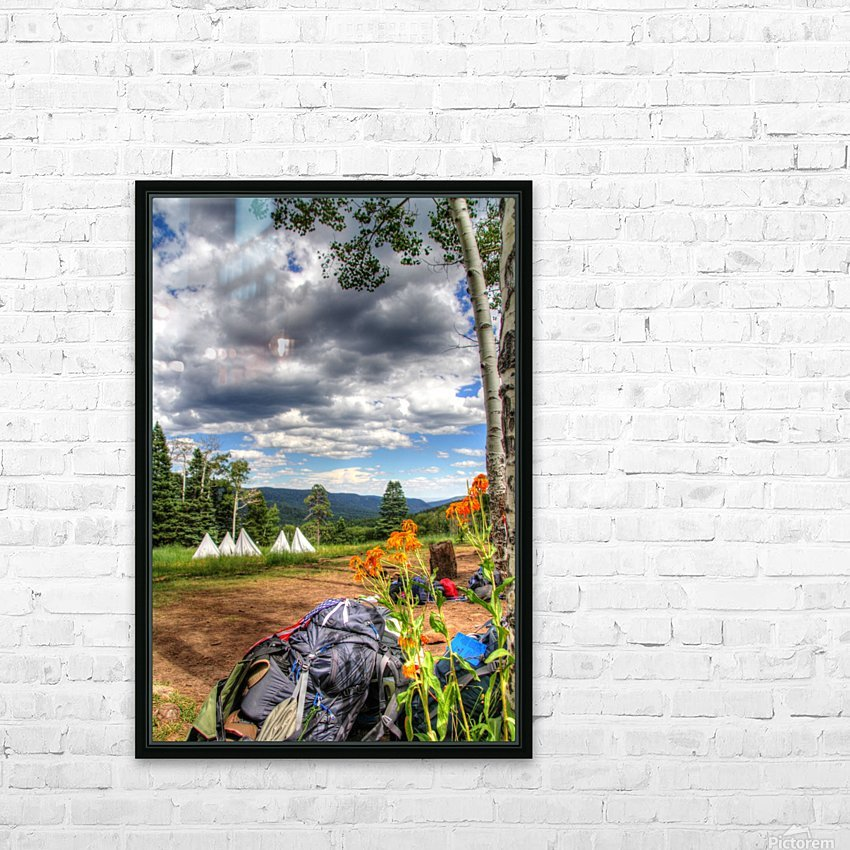 Rest with a View HD Sublimation Metal print with Decorating Float Frame (BOX)