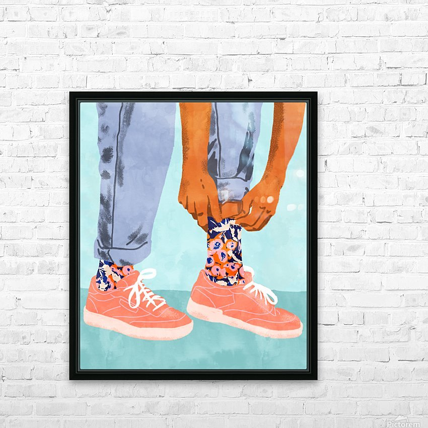 Pull Up Those Pretty Socks HD Sublimation Metal print with Decorating Float Frame (BOX)