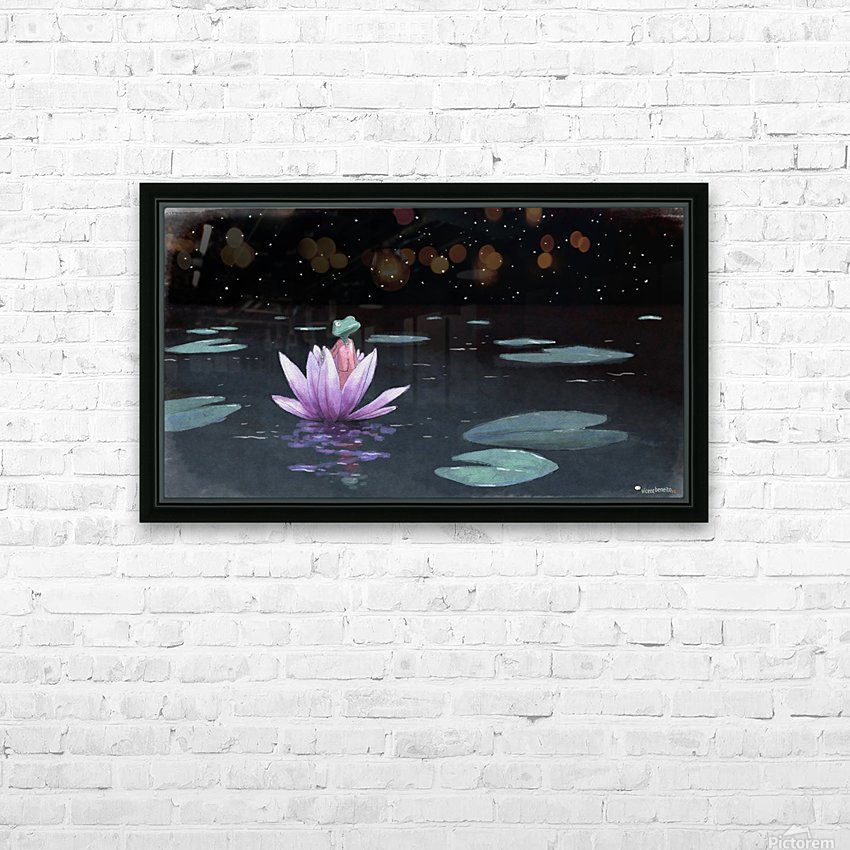 The Little Frog HD Sublimation Metal print with Decorating Float Frame (BOX)