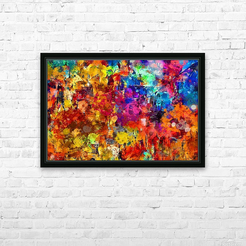 Autumn Leaves Abstract  HD Sublimation Metal print with Decorating Float Frame (BOX)