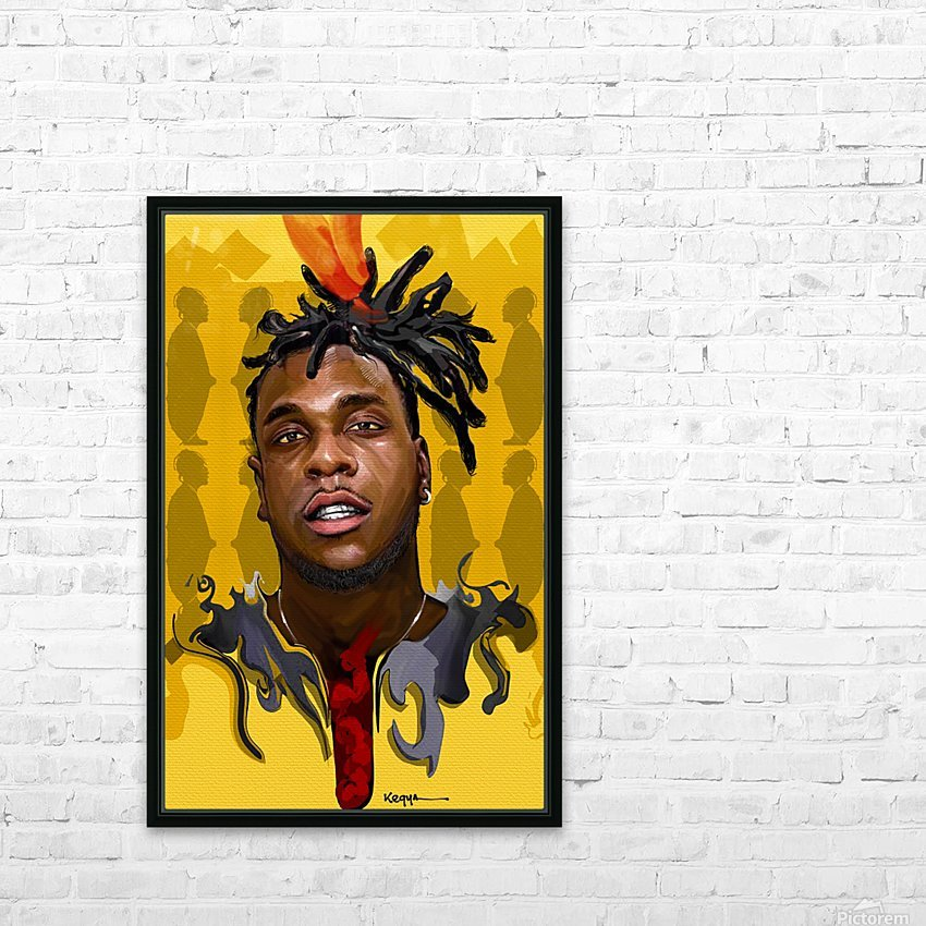 BURNA BOY HD Sublimation Metal print with Decorating Float Frame (BOX)