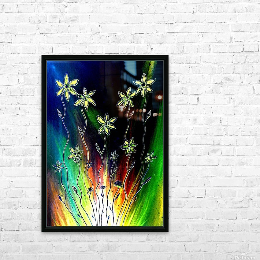 Flower Burst HD Sublimation Metal print with Decorating Float Frame (BOX)