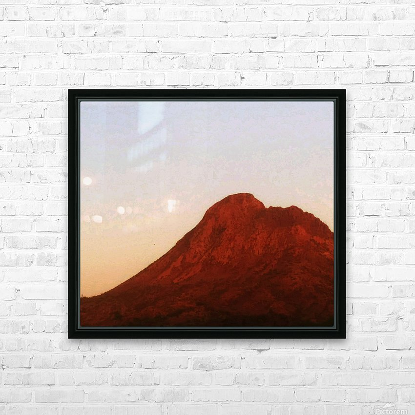Red mountain side HD Sublimation Metal print with Decorating Float Frame (BOX)