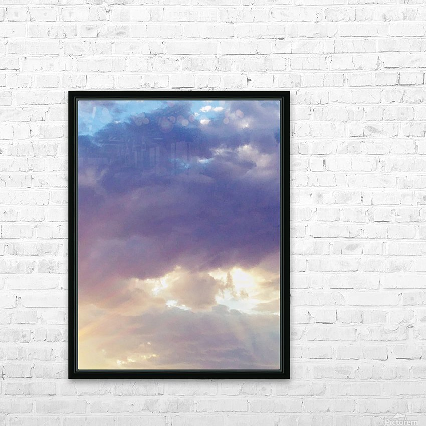 Beautiful cumullus HD Sublimation Metal print with Decorating Float Frame (BOX)