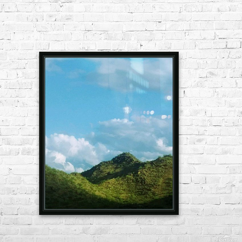 Rolling hills HD Sublimation Metal print with Decorating Float Frame (BOX)