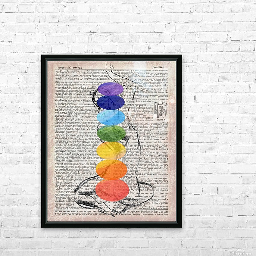 Potential Energy Chakras Colors HD Sublimation Metal print with Decorating Float Frame (BOX)