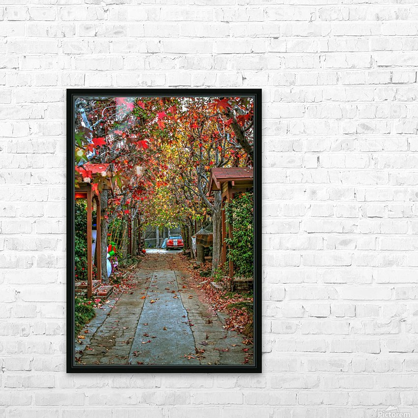 Fall in the city HD Sublimation Metal print with Decorating Float Frame (BOX)