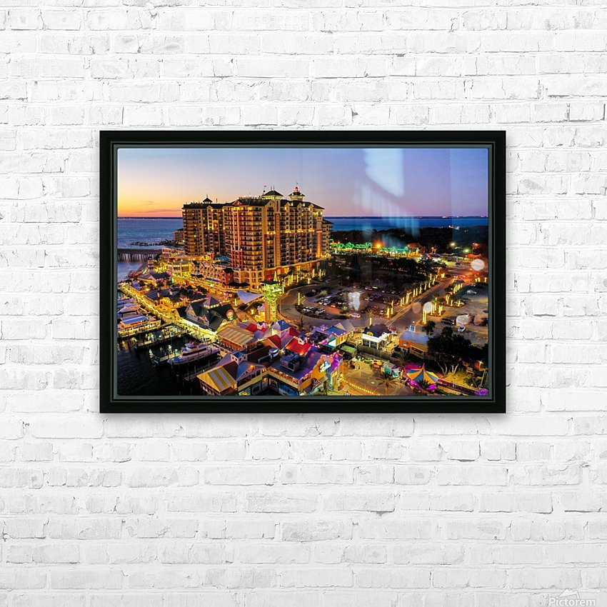 Em Grand Cristmas HD Sublimation Metal print with Decorating Float Frame (BOX)