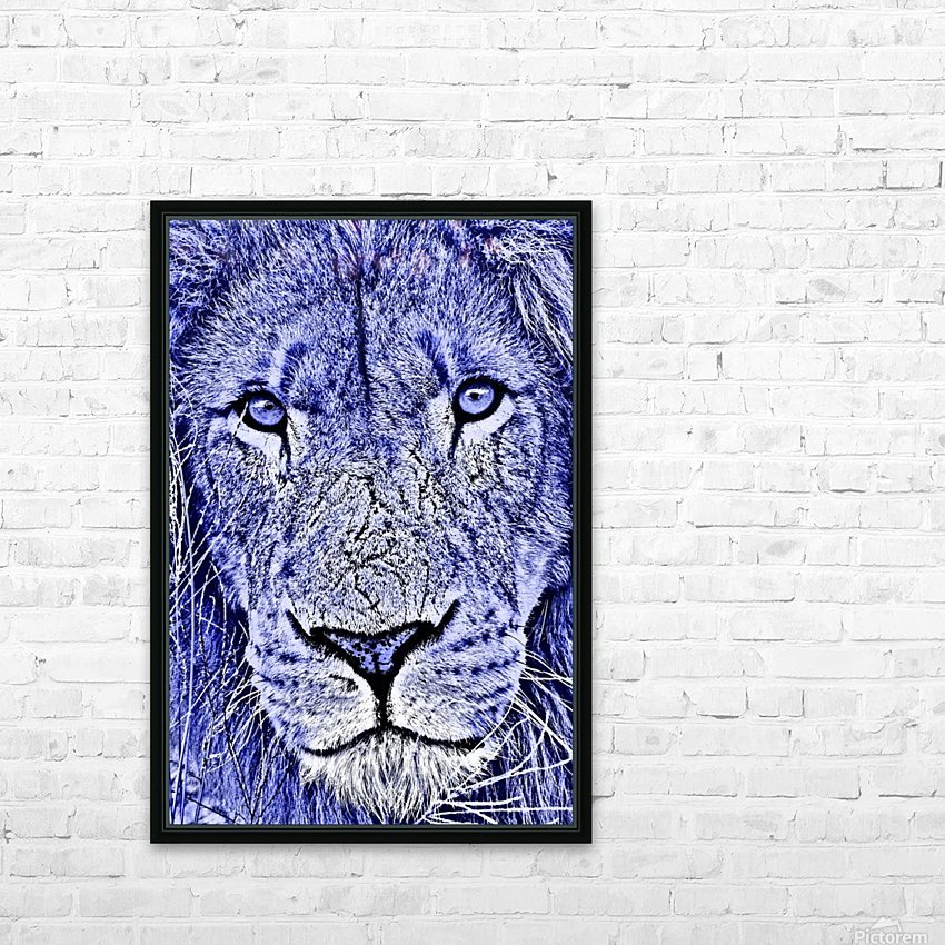 Male Lion Face thula art 5 HD Sublimation Metal print with Decorating Float Frame (BOX)