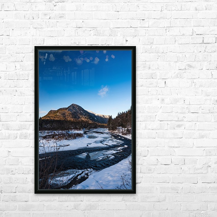 Blue freeze HD Sublimation Metal print with Decorating Float Frame (BOX)