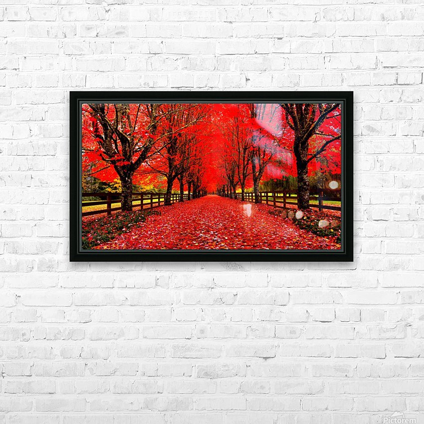 Red Carpet HD Sublimation Metal print with Decorating Float Frame (BOX)