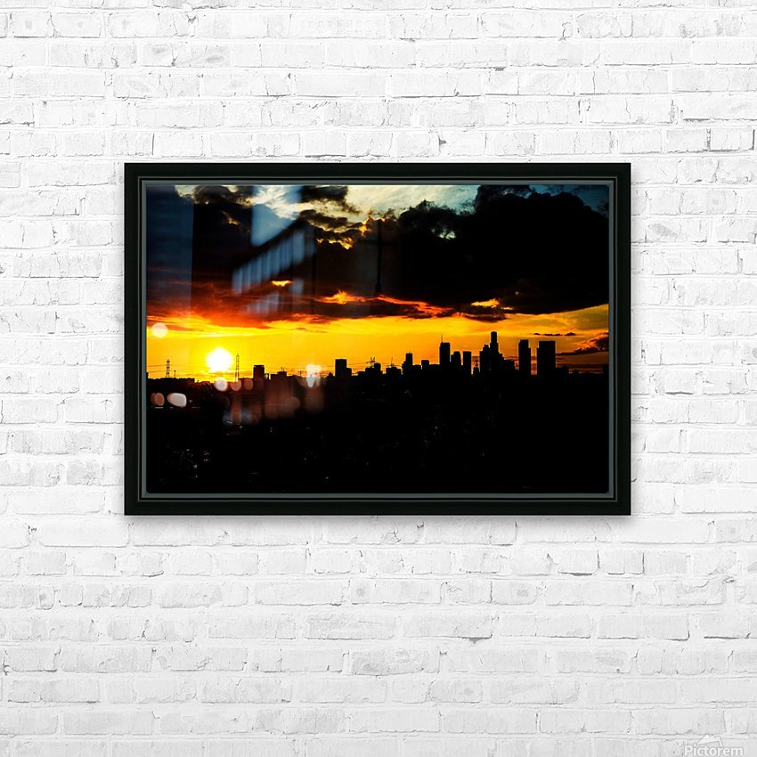 LA On fire HD Sublimation Metal print with Decorating Float Frame (BOX)