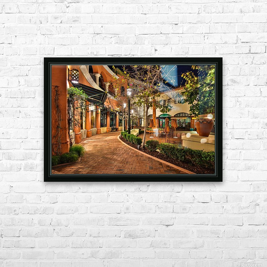 Quiet Walk HD Sublimation Metal print with Decorating Float Frame (BOX)