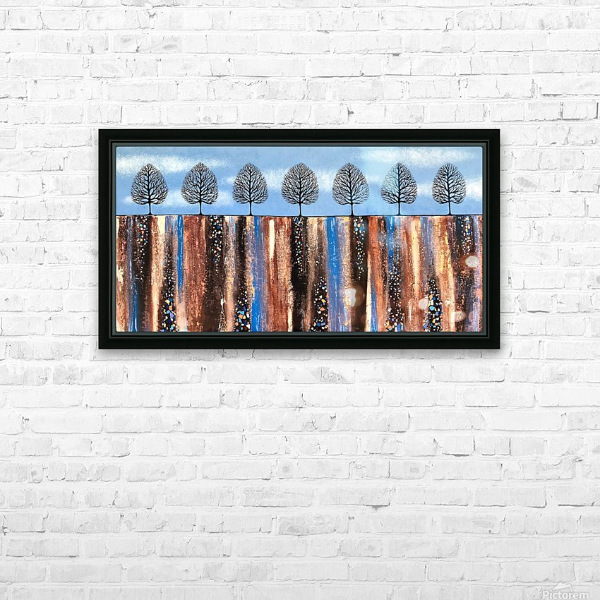 Trees Of Winter HD Sublimation Metal print with Decorating Float Frame (BOX)