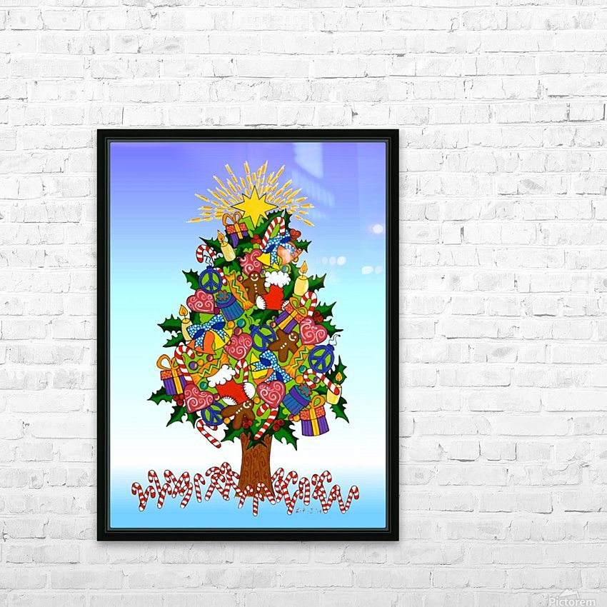 Joy of Christmas HD Sublimation Metal print with Decorating Float Frame (BOX)