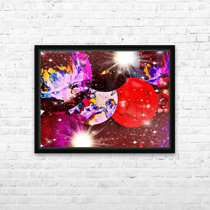 The Imaginary Planets Series 5 HD Sublimation Metal print with Decorating Float Frame (BOX)