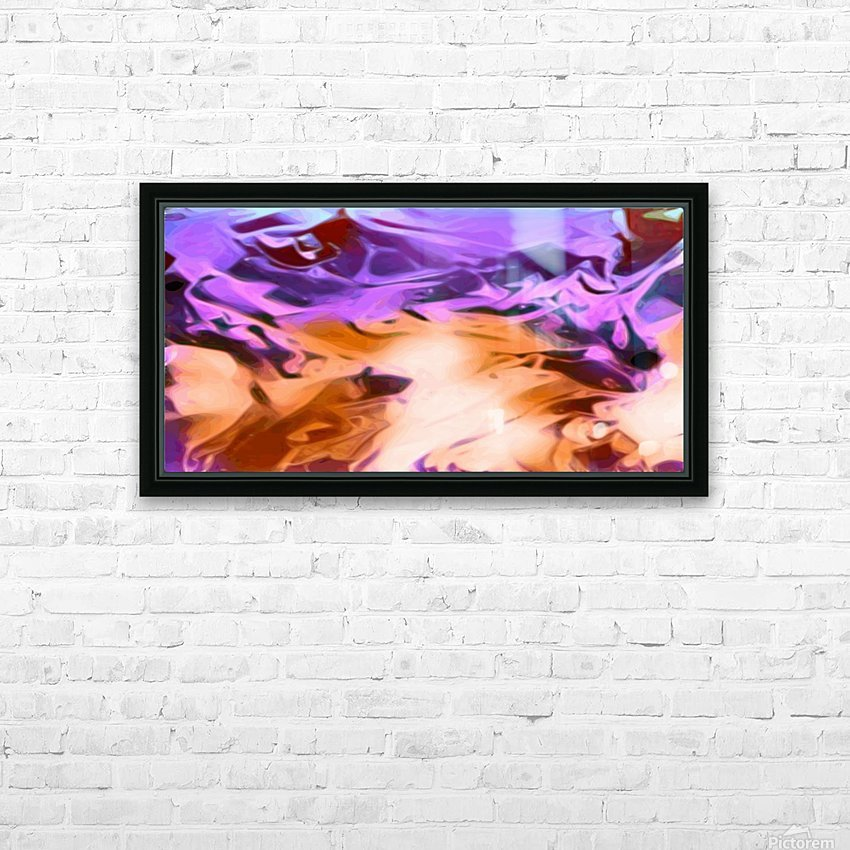 Daydreams - purplea white orange abstract swirls wall art HD Sublimation Metal print with Decorating Float Frame (BOX)