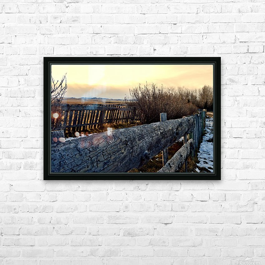 On The Fence HD Sublimation Metal print with Decorating Float Frame (BOX)