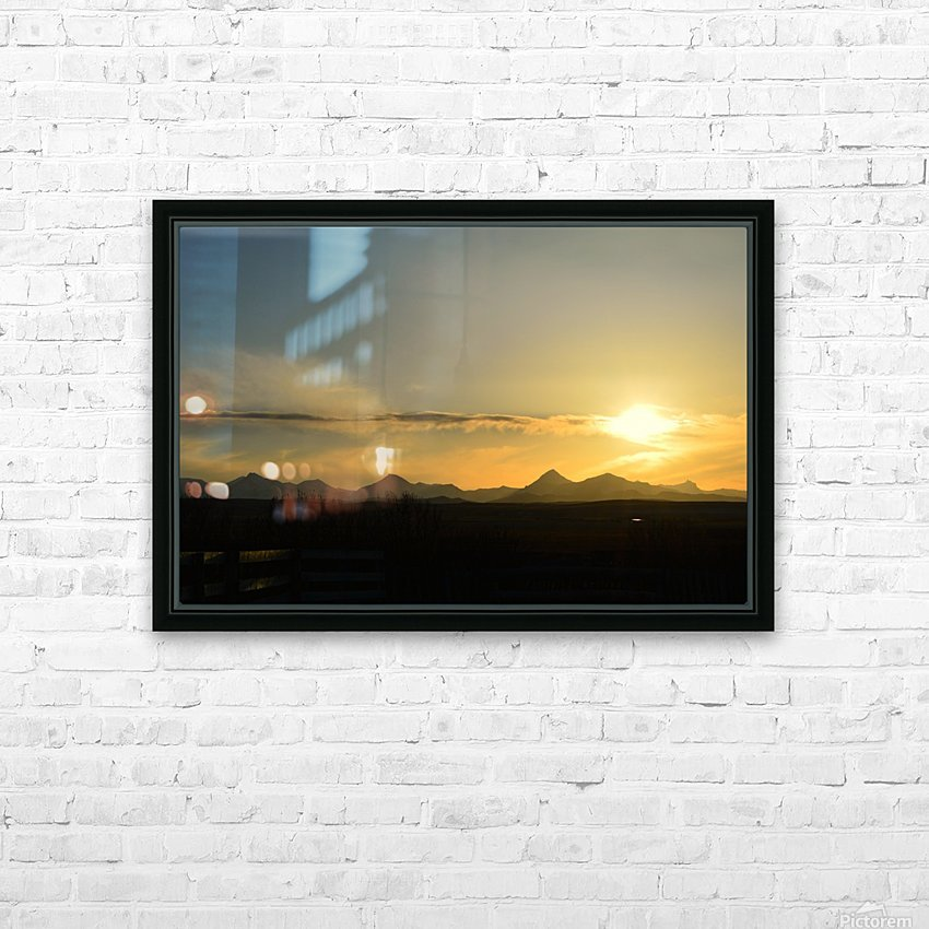 Skyscape  HD Sublimation Metal print with Decorating Float Frame (BOX)