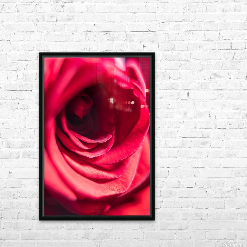 Red 2 HD Sublimation Metal print with Decorating Float Frame (BOX)