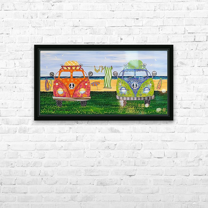 Hippy Van Holiday no.1 HD Sublimation Metal print with Decorating Float Frame (BOX)