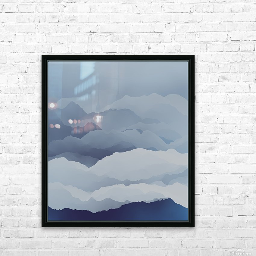 Beautiful Mountains HD Sublimation Metal print with Decorating Float Frame (BOX)