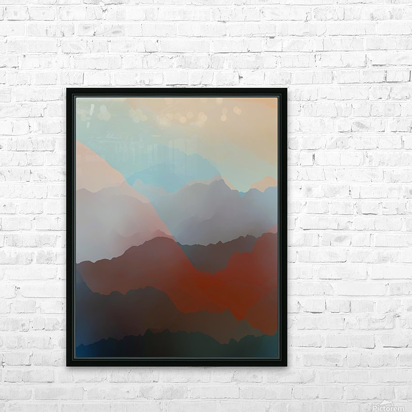 Beautiful Mountains 2 HD Sublimation Metal print with Decorating Float Frame (BOX)