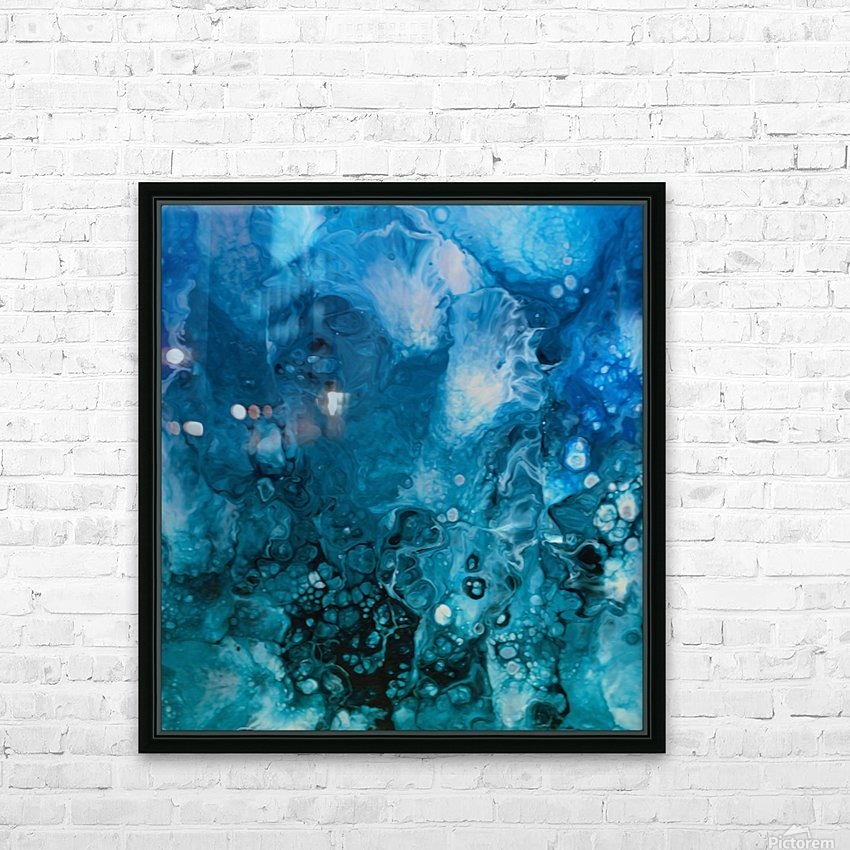 Abstract Composition 779 HD Sublimation Metal print with Decorating Float Frame (BOX)