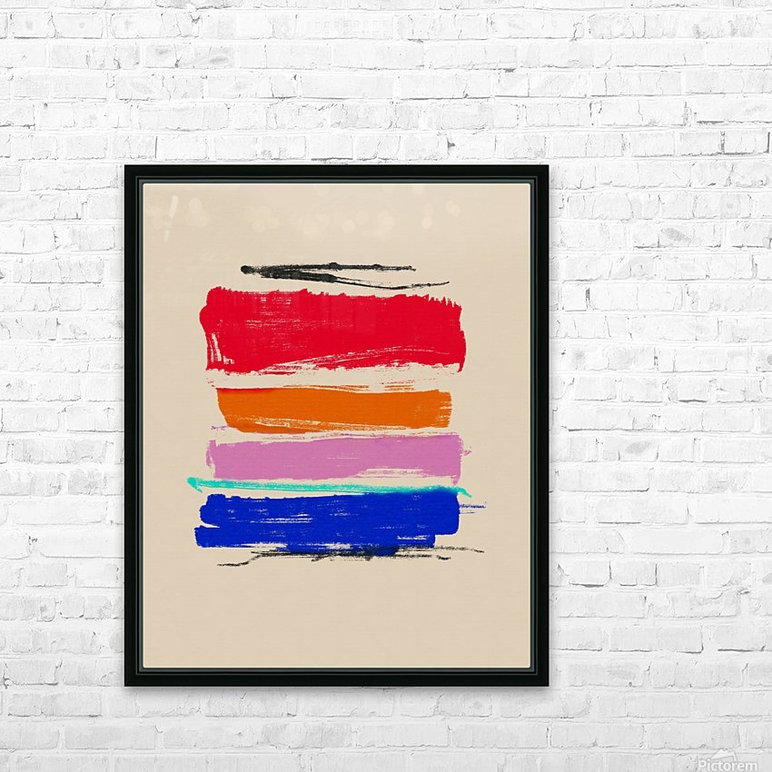 Abstract Composition 782 HD Sublimation Metal print with Decorating Float Frame (BOX)