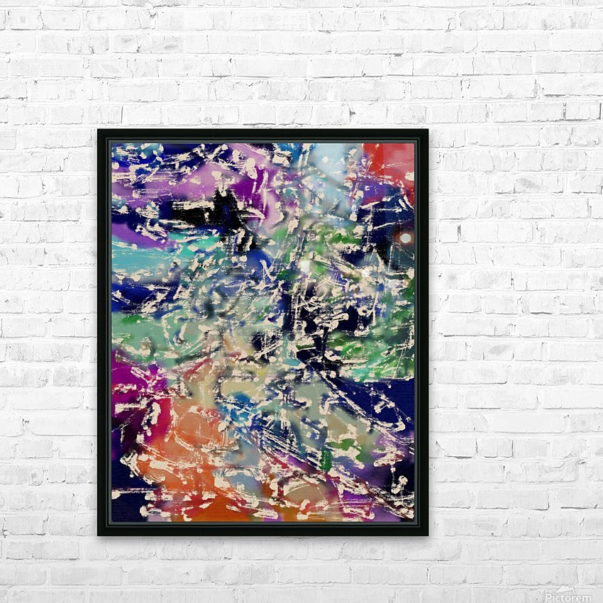 Abstract Composition 781 HD Sublimation Metal print with Decorating Float Frame (BOX)