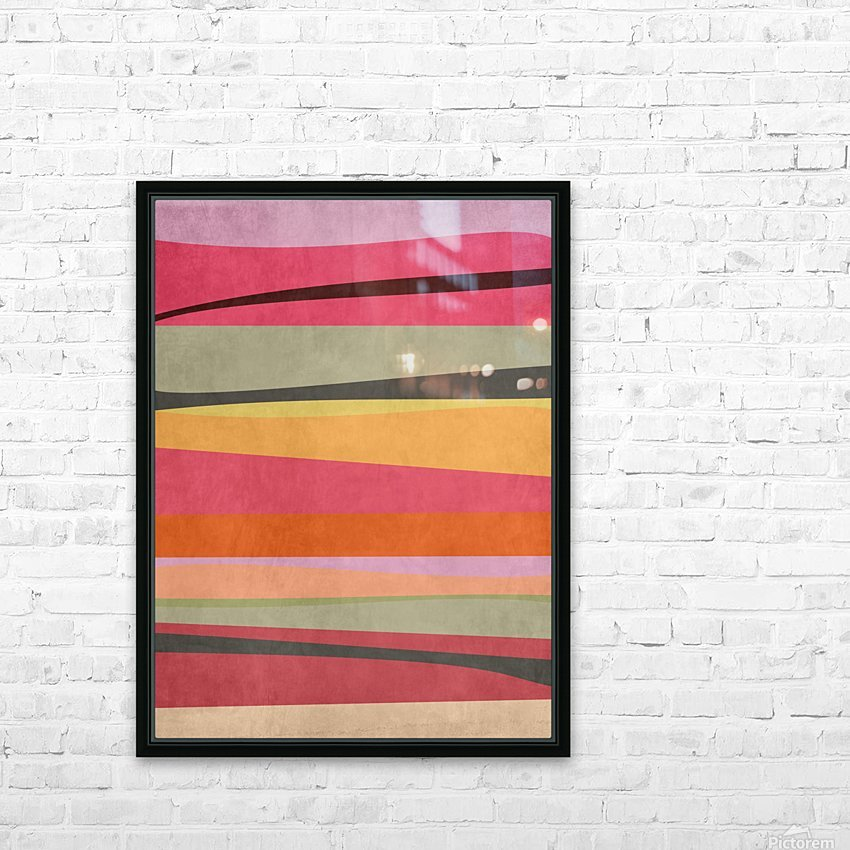 Abstract Composition 776 HD Sublimation Metal print with Decorating Float Frame (BOX)