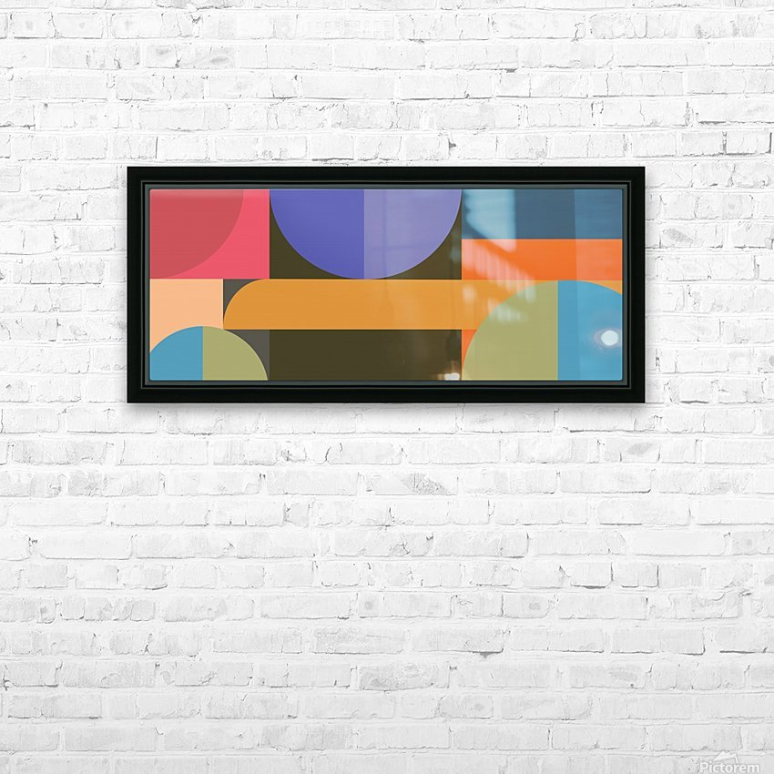 Abstract Composition 783 HD Sublimation Metal print with Decorating Float Frame (BOX)