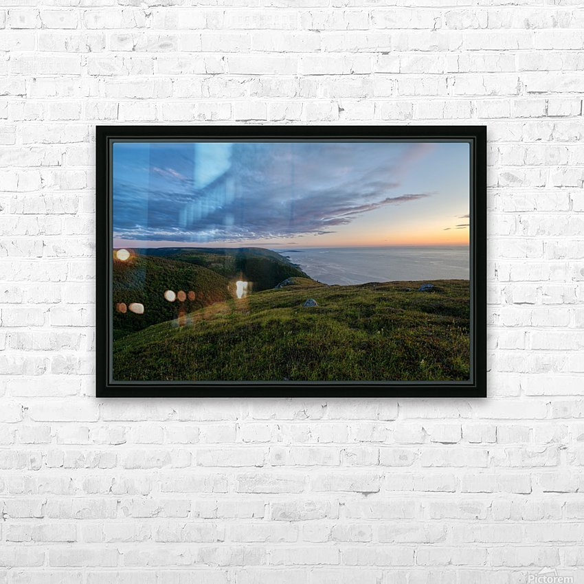 From the top of Blueberry Mountain HD Sublimation Metal print with Decorating Float Frame (BOX)