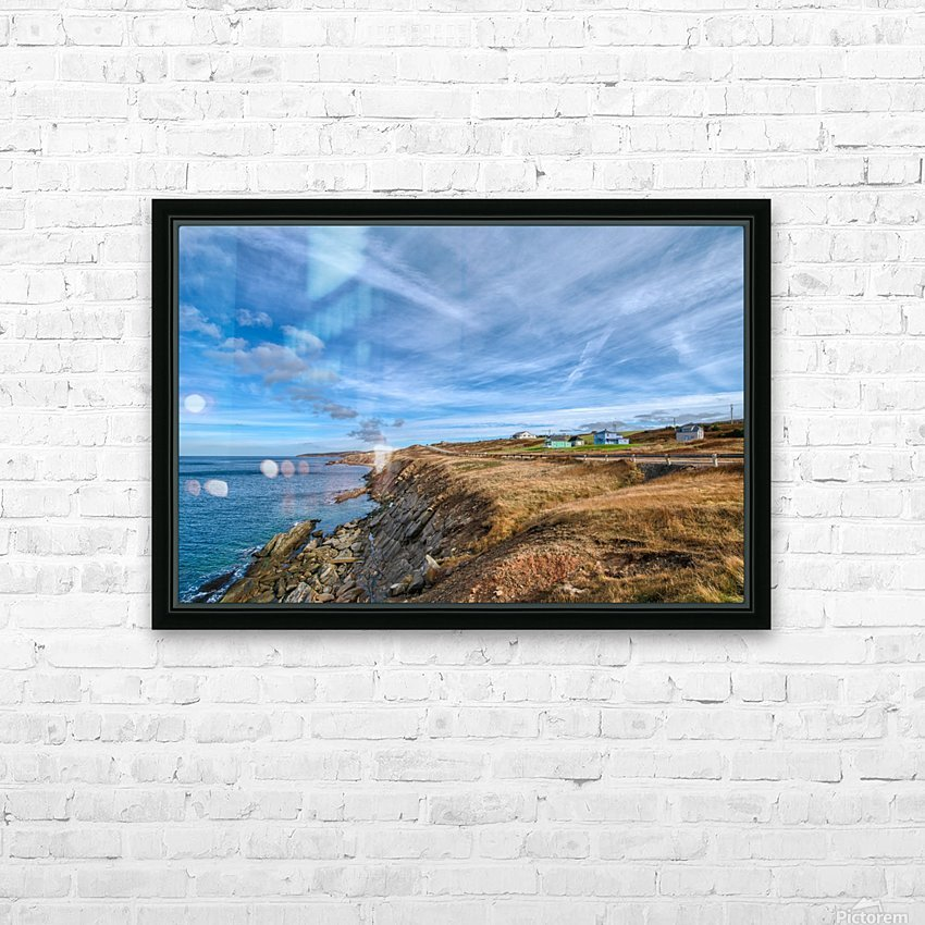 A Drive Home HD Sublimation Metal print with Decorating Float Frame (BOX)