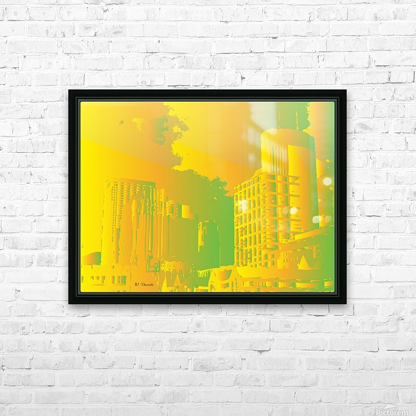 Abstract Building Minneapolis Skyline HD Sublimation Metal print with Decorating Float Frame (BOX)