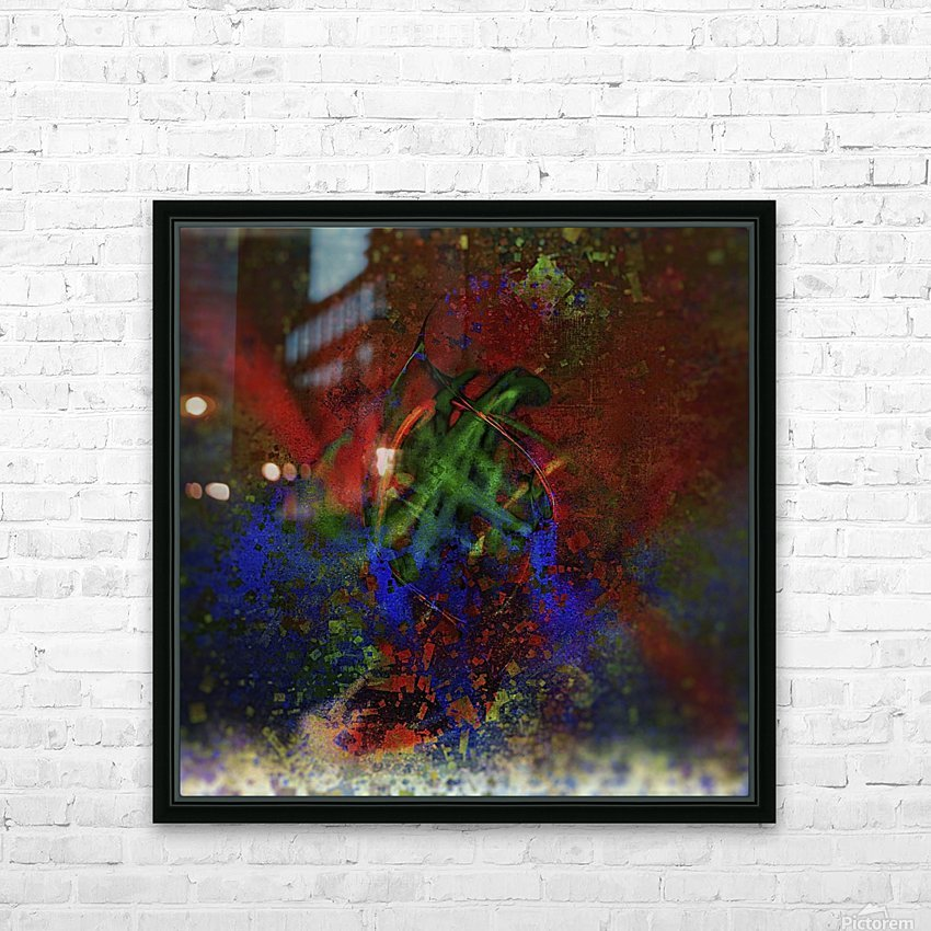 Pollock HD Sublimation Metal print with Decorating Float Frame (BOX)