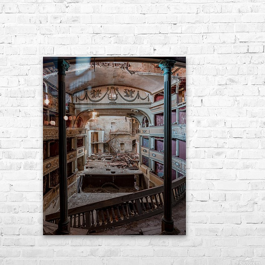 Abandoned Cinema HD Sublimation Metal print with Decorating Float Frame (BOX)