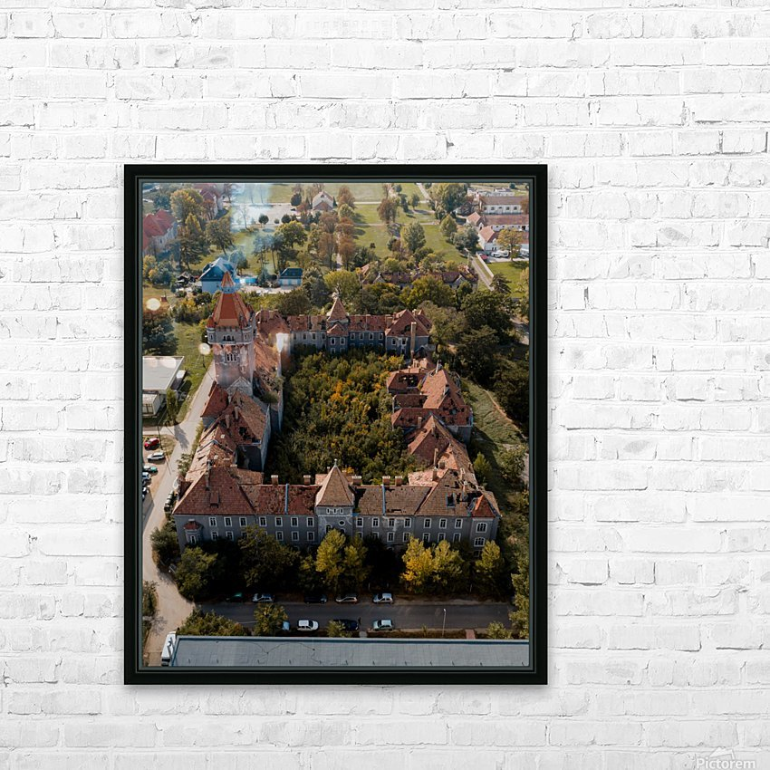 Abandoned Chateau w- Forest Courtyard HD Sublimation Metal print with Decorating Float Frame (BOX)