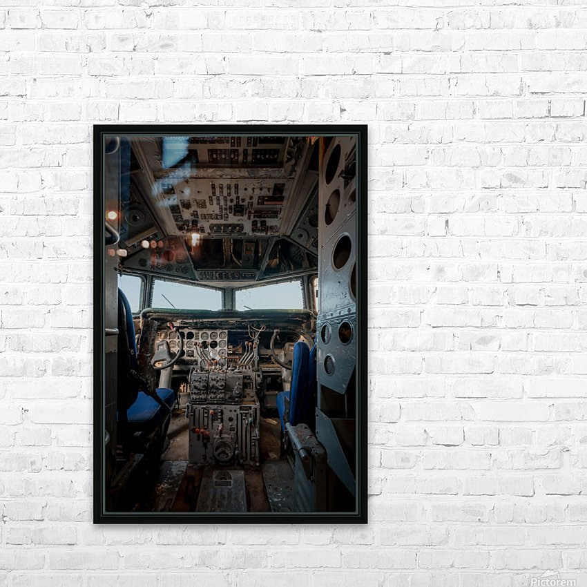Abandoned Airplane Cockpit HD Sublimation Metal print with Decorating Float Frame (BOX)