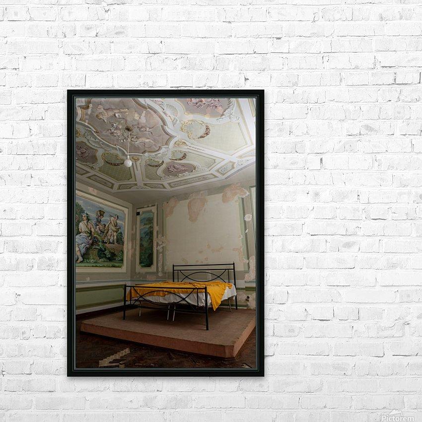 Abandoned Mansion Marvelous Bedroom HD Sublimation Metal print with Decorating Float Frame (BOX)