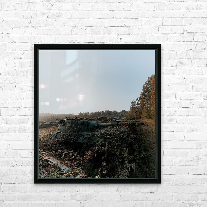 Abandoned Tank Graveyard w- Vines HD Sublimation Metal print with Decorating Float Frame (BOX)