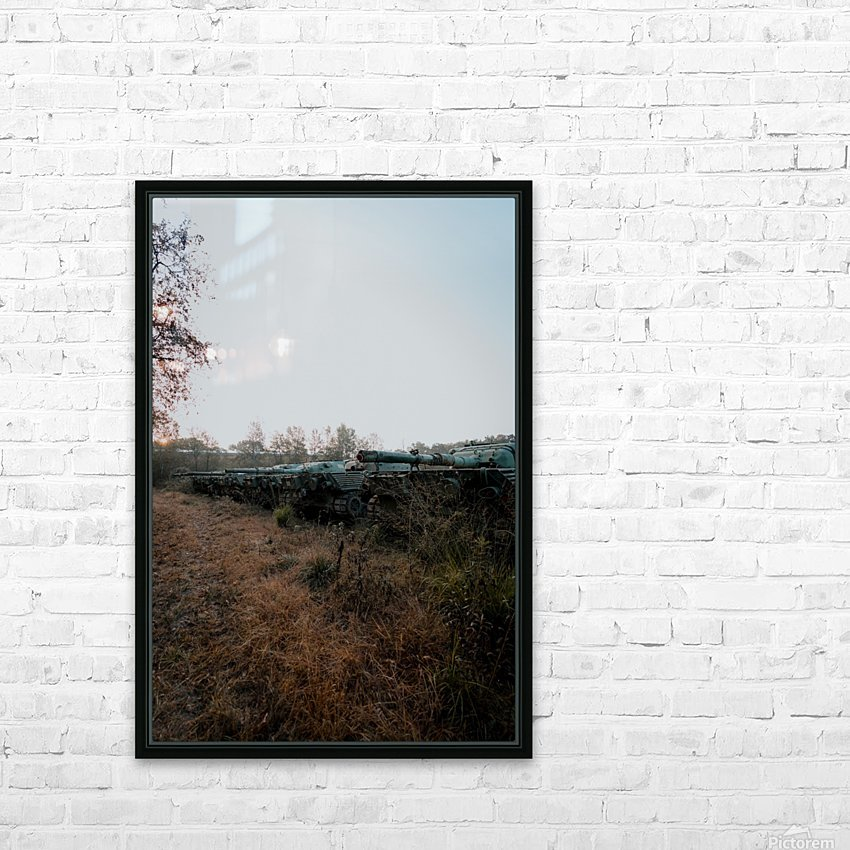 Abandoned Tank Graveyard HD Sublimation Metal print with Decorating Float Frame (BOX)
