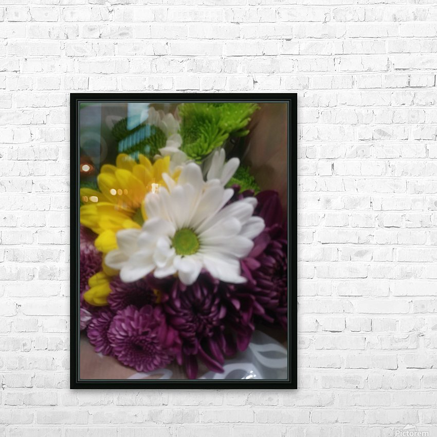 Flowers  HD Sublimation Metal print with Decorating Float Frame (BOX)